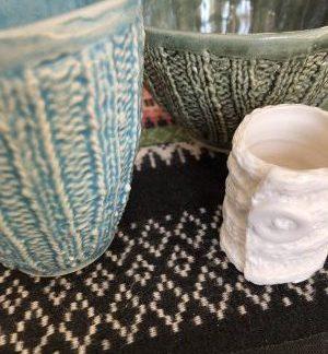 Keramik med sticktema